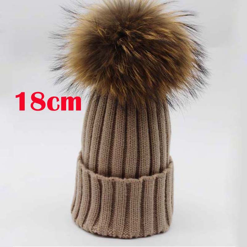 2017-New-Womens-Winter-Raccoon-Fur-Hats-Real-Big-18cm-Fur-font-b-Pompom-b-font